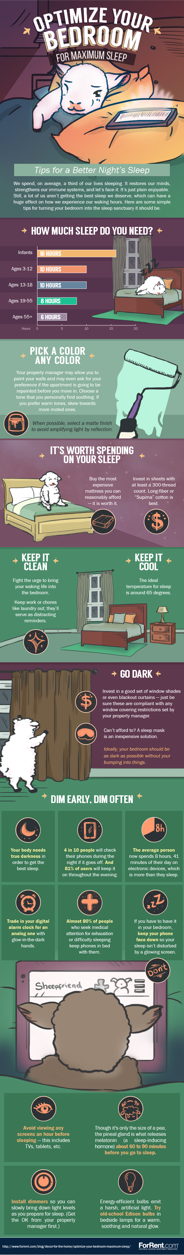 Transform Your Bedroom For The Best Night's Sleep - Infographic
