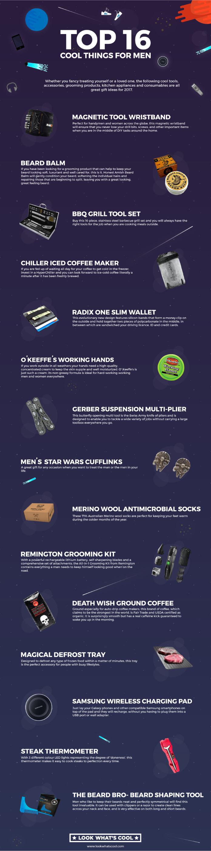 Coolest Things You Can Gift A Man - Infographic
