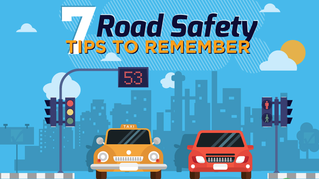 How To Be Safe On The Road Infographic