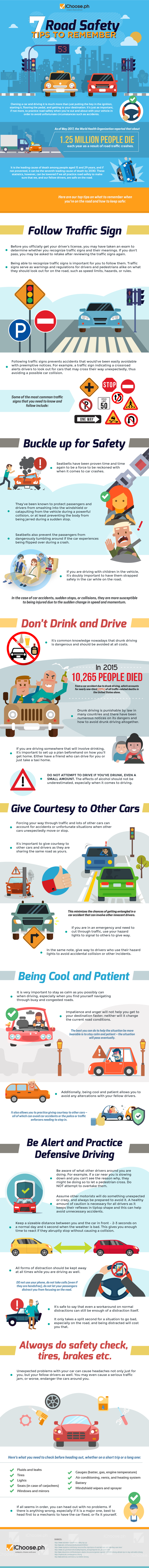 How To Be Safe On The Road - Infographic