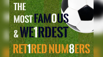 Most Interesting Retired Number Stories In Football - Infographic