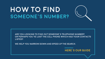 A Guide To Finding Anyone's Phone Number - Infographic