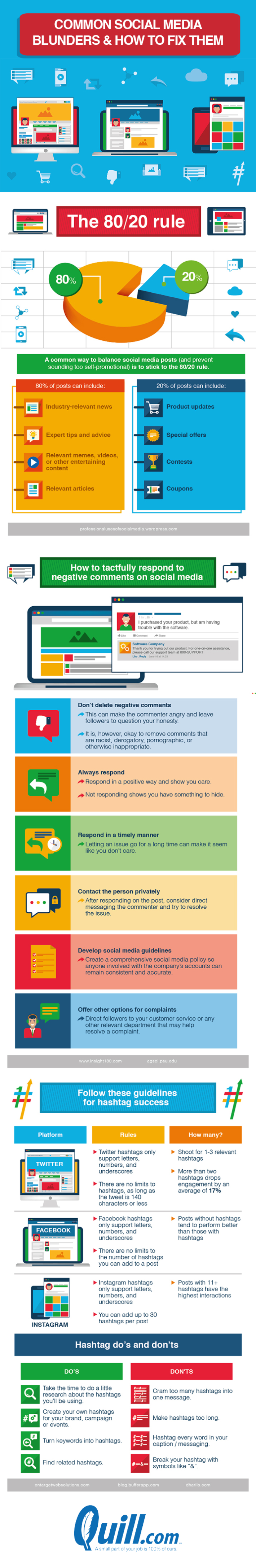 Avoid These Mistakes On Social Media - Infographic