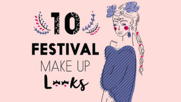 Fabulous Make-Up Looks For Festivals - Infographic