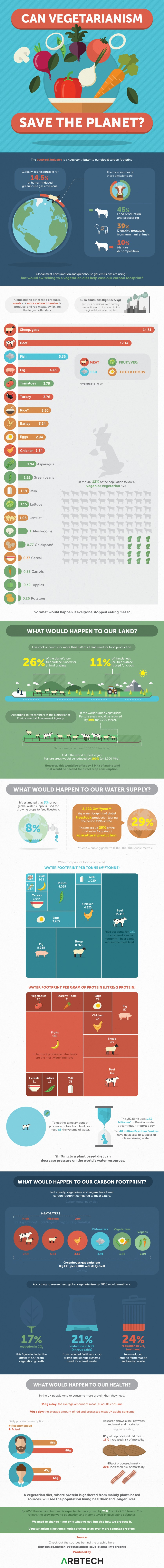 Is Vegetarianism Really The Solution For Carbon Footprint? - Infographic