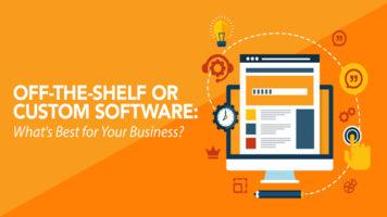 Off-The-Shelf vs Custom Software - Infographic