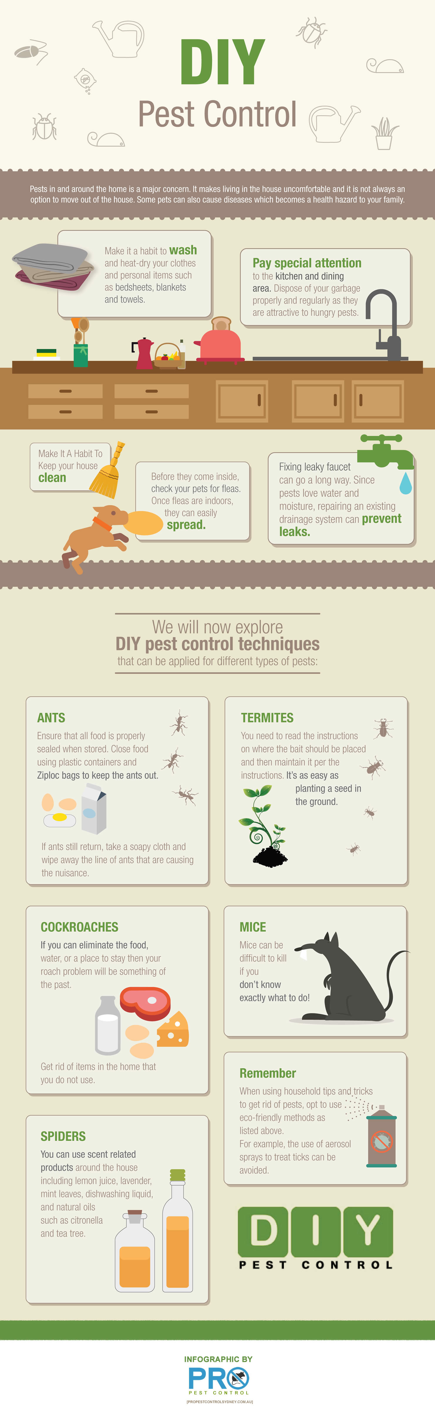 Secrets To A Pest-Free Home - Infographic