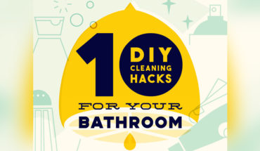 10 Easy Tricks for a Sparkling Clean Bathroom - Infographic