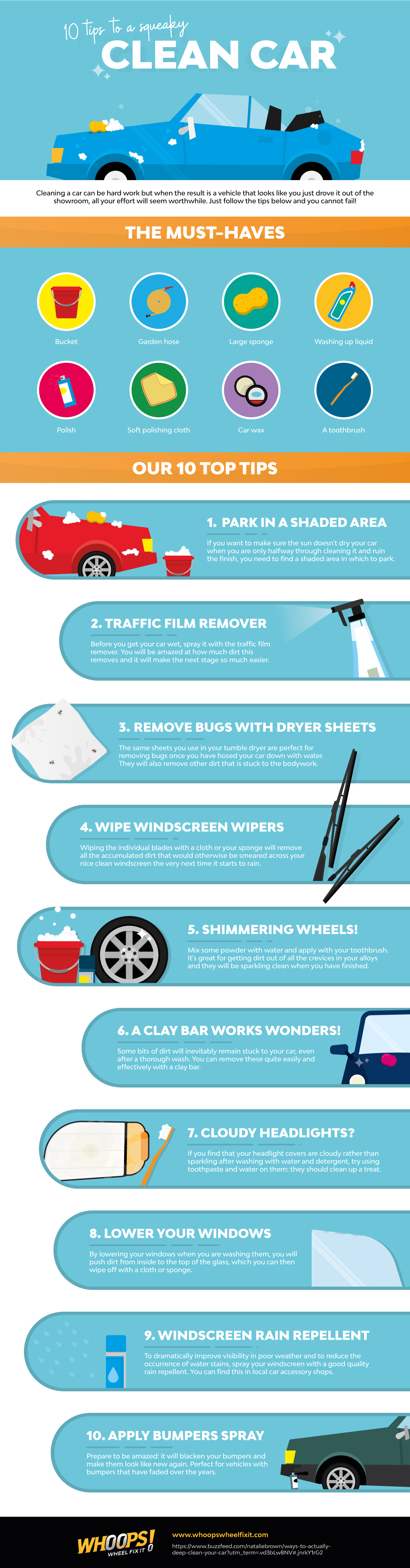 10 Tricks To Making Your Car Look Brand New - Infographic