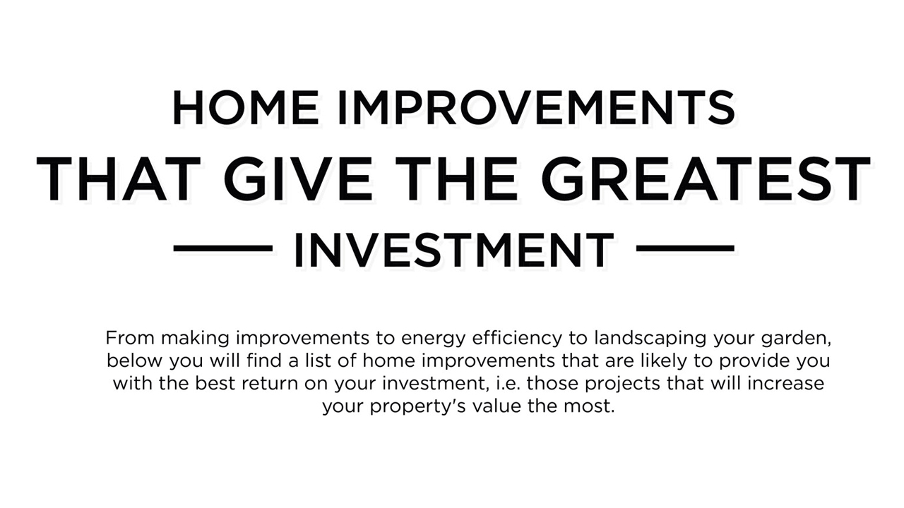 8 Ways To Increase The Value Of Your Home Infographic