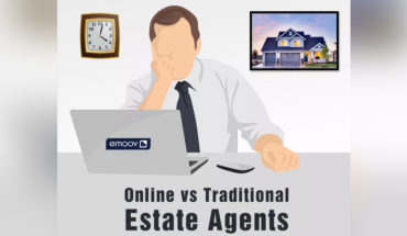 Real Estate Agents: Online Vs Traditional - Infographic