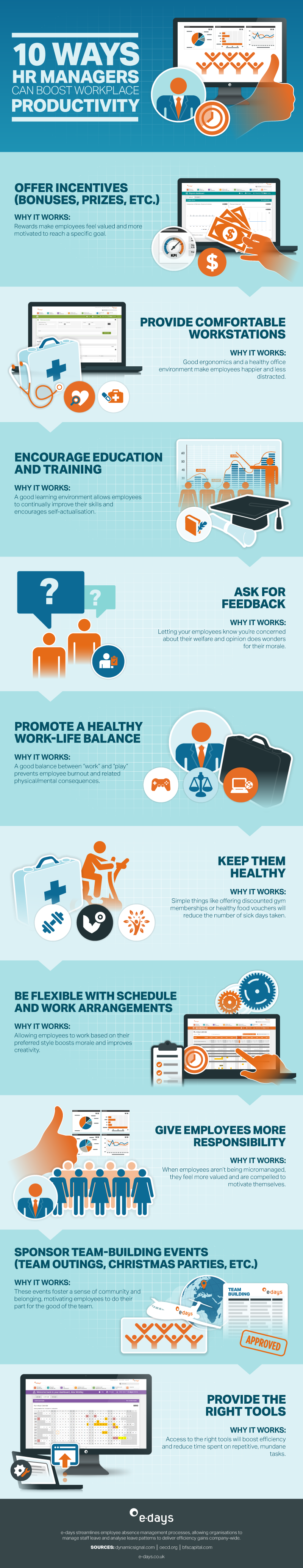10 HR Tips to Enhance Workplace Productivity - Infographic