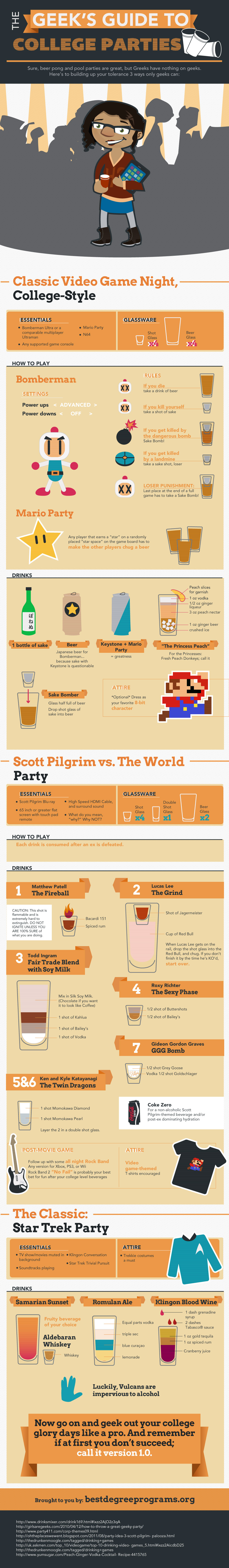 The Ultimate Geek's Guide to Party Games - Infographic