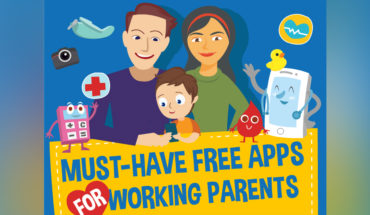 Essential Free Apps for Working Parents - Infographic