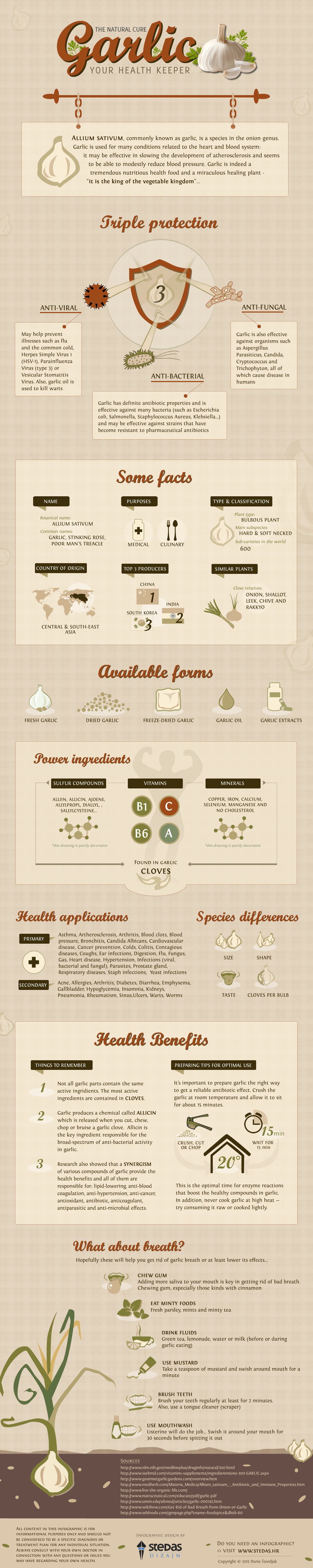 Garlic: The Miracle Health and Nutrition Food - Infographic