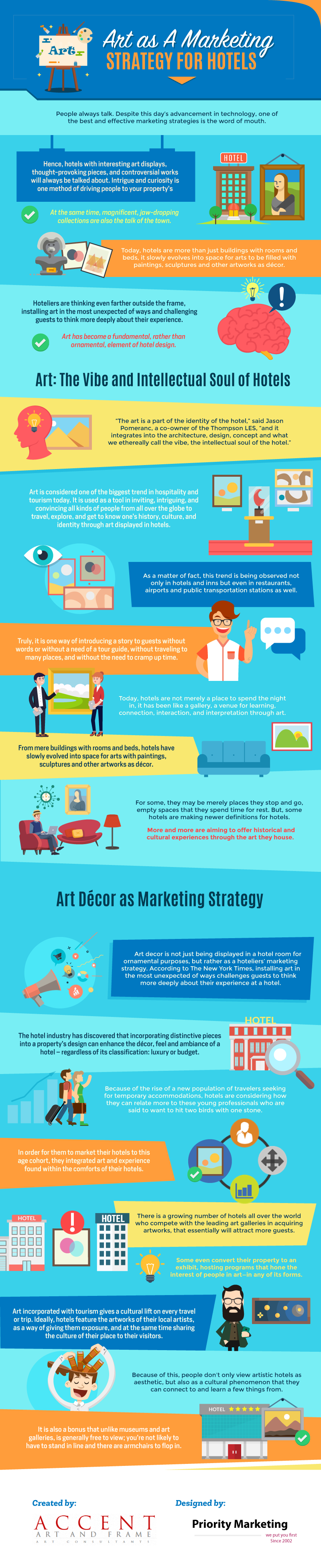 How Hotels Use Art as a Marketing Weapon - Infographic