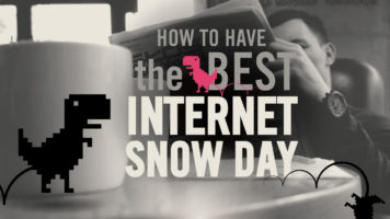How to Have a Productive Internet Snow-Day - Infographic