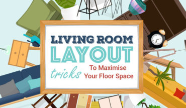 Layout Tips to Maximize Living Room Floor Space - Infographic