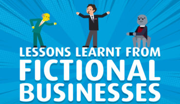 Management Lessons Learnt from Fictional Businesses - Infographic