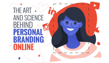 The Many Faces of Online Personal Branding - Infographic