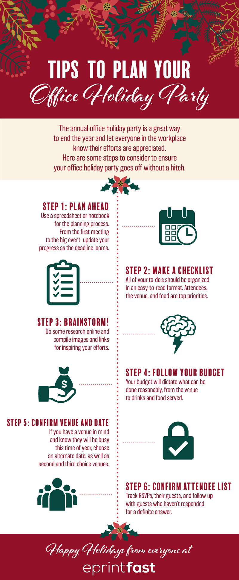 Your Checklist For Planning An Annual Office Party - Infographic