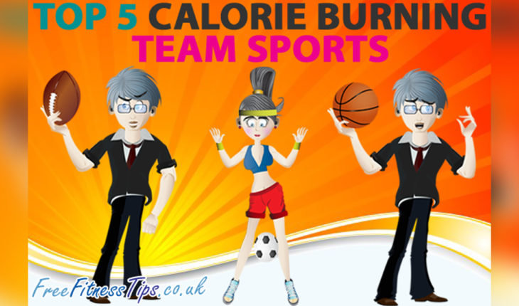 Calorie Burning Team Sports: The Top 5 List - Infographic