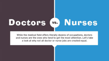 Doctors Vs Nurses: Career and Training Options - Infographic
