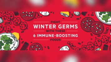 How to Boost Immunity with 6 Winter Germ-Fighting Foods - Infographic