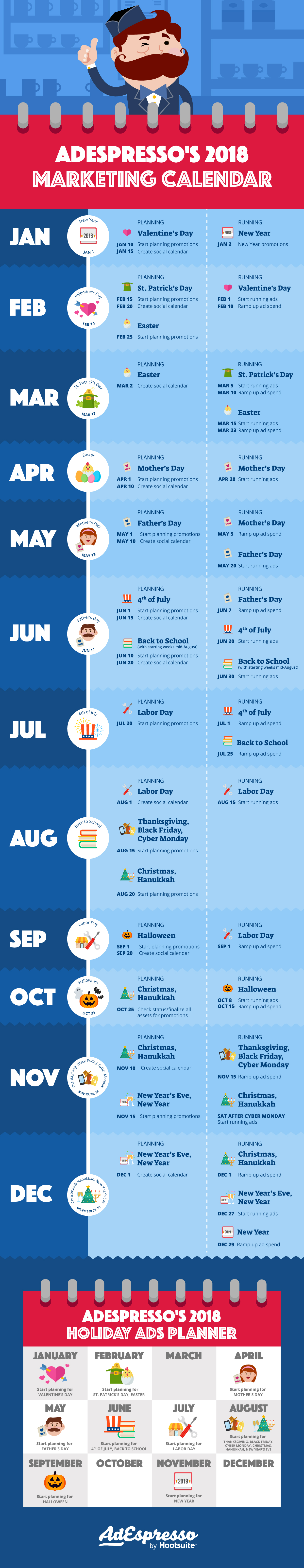 How to Create Your Unique Marketing Calendar - Infographic