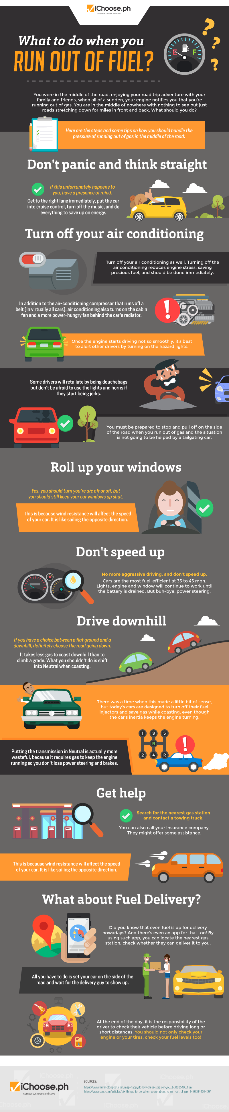 How to Manage When You Suddenly Run Out of Fuel - Infographic