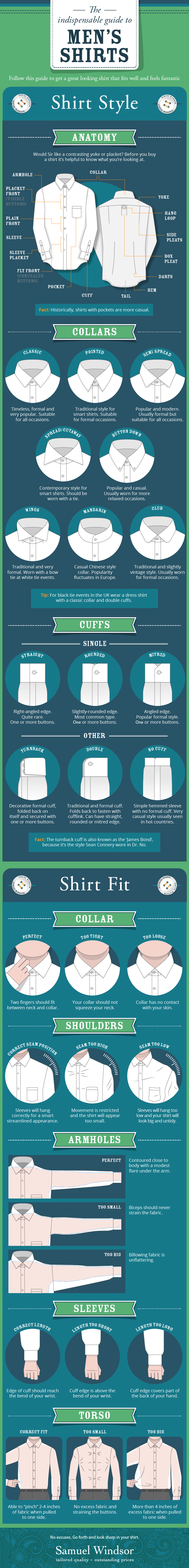 Men's Shirts: The Ultimate Style Guide - Infographic