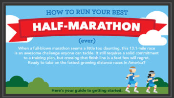Running Half Marathon: How to Give Your Best - Infographic