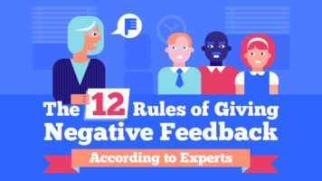12 Positive Methods to Give Negative Feedback - Infographic