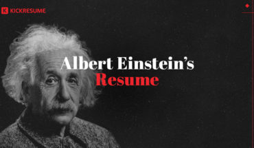 If Albert Einstein's Were to Write His Resume - Infographic