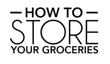 Storing Your Groceries the Right Way - Infographic