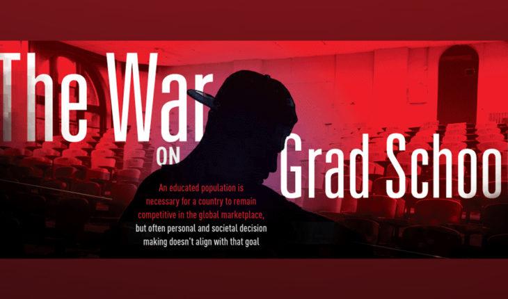 The Battle of Grad School Debt Woes - Infographic
