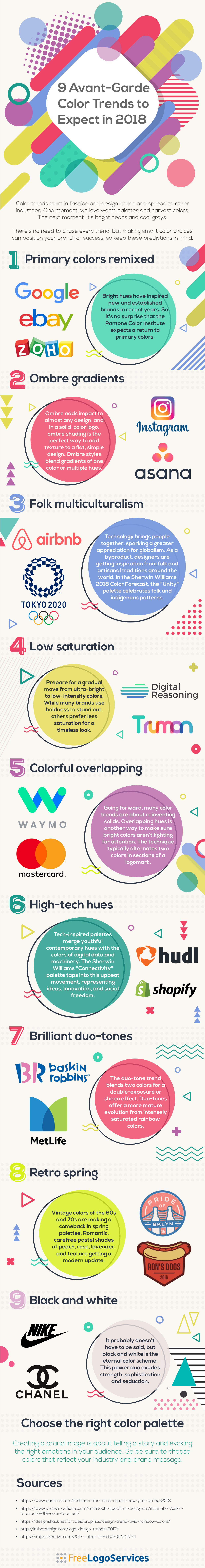 Plan Your Brands' Color Palette: Color Trends 2018 - Infographic