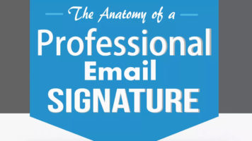 Perfecting Your Online Business Card: The Anatomy of Email Signatures - Infographic