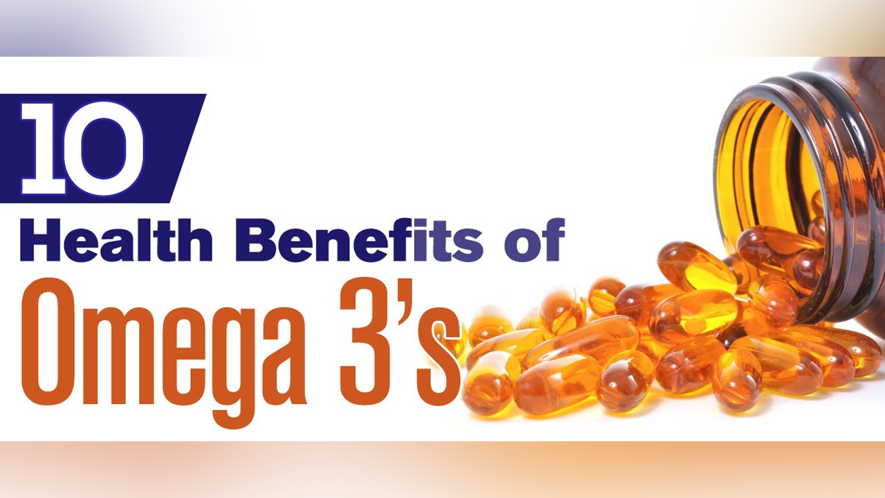 Top 10 Health Benefits Of Omega 3 Infographic