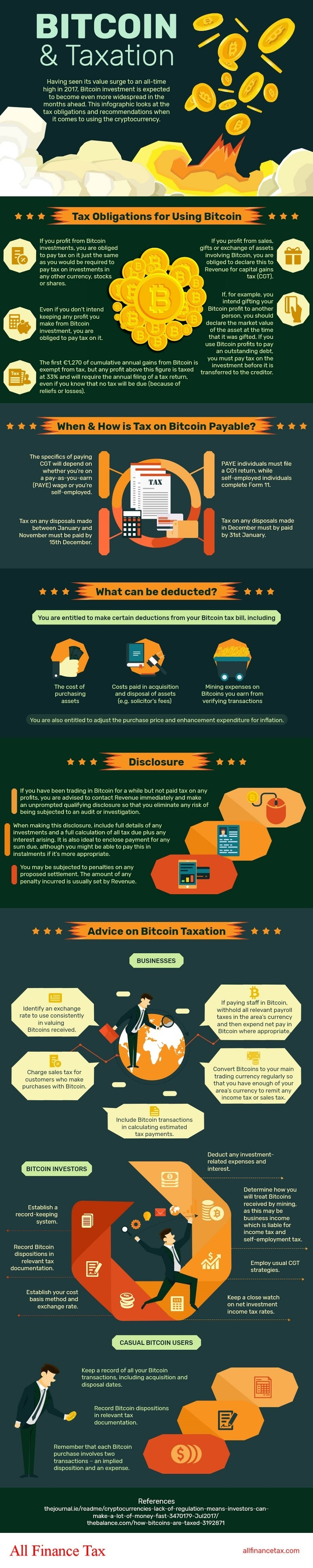 Bitcoin: Guide to Taxation - Infographic