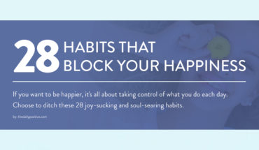 Happiness is an Inside Job: 28 Habits that Block Happiness - Infographic