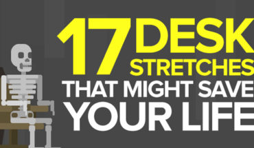 How to Build Your Health and Productivity: 17 Desk Stretches at Work - Infographic