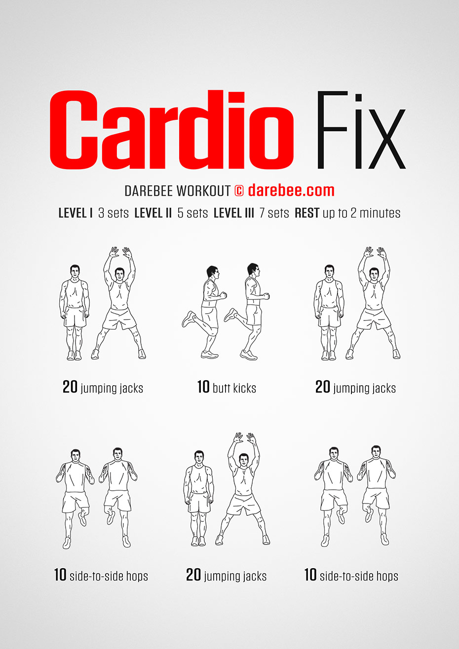 How to Cardio-Fix Your Body: The Ultimate Workout - Infographic