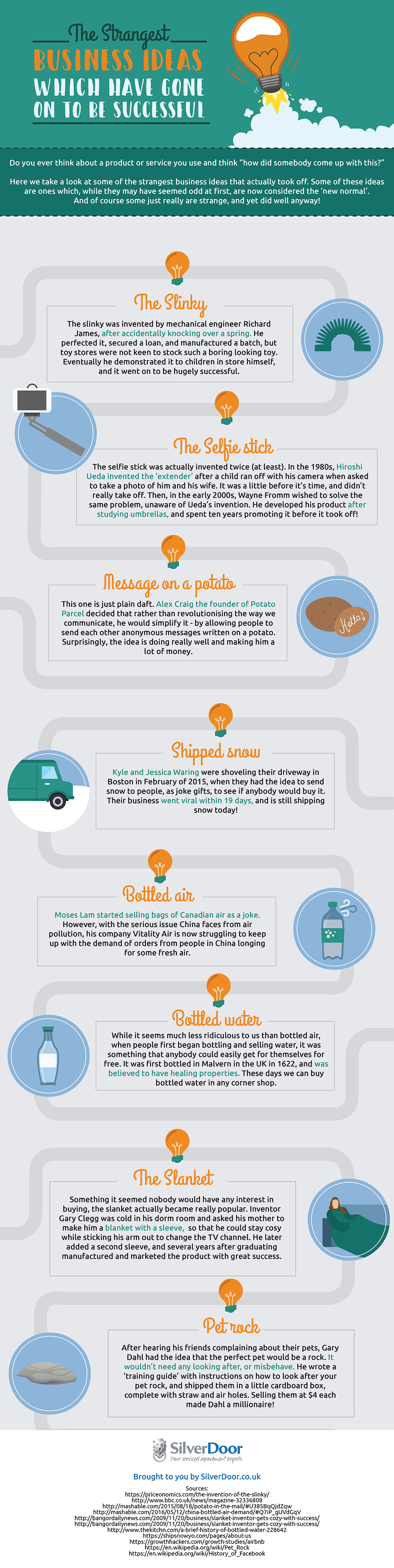 Strange but Successful Business Ideas that Hit the Jackpot - Infographic