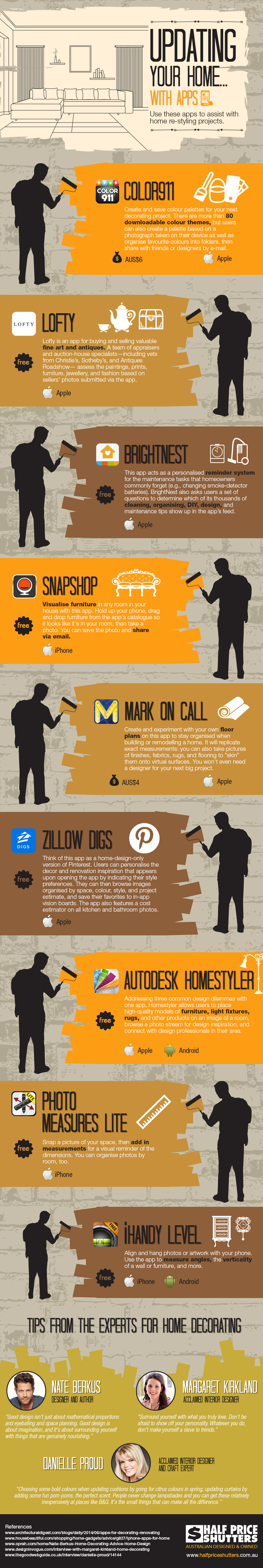 The App-Route to Home Restyling and Décor - Infographic