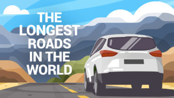 When the Journey is the Destination: The Longest Roads in the World - Infographic