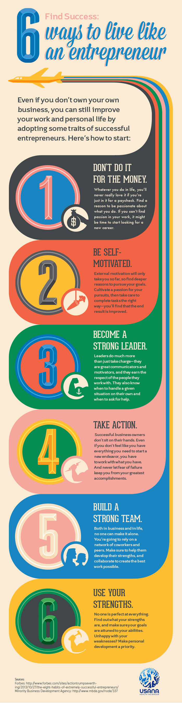 6 Ways to Build Your Entrepreneurial Spirit - Infographic