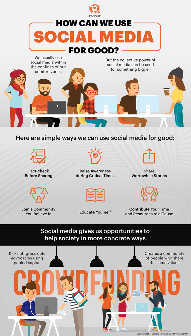 How Social Media Works for Social Betterment - Infographic