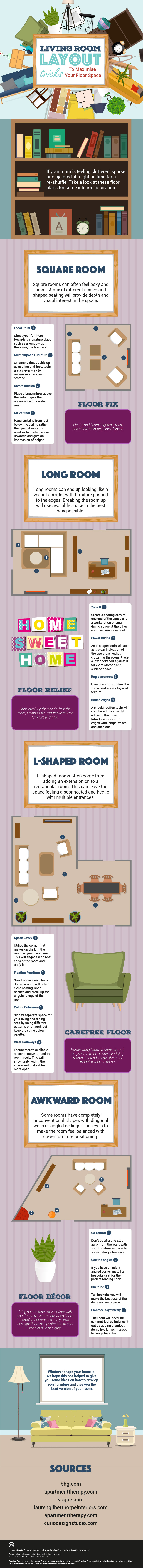 How To Maximise The Space In Your Living Room - Infographic