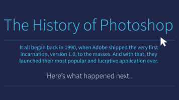 Photoshop: From 1990 to an Ever-Brighter Future - Infographic